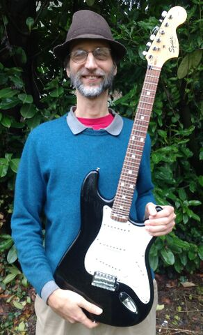 Pic of Kite Giedraitis with Kite Guitar